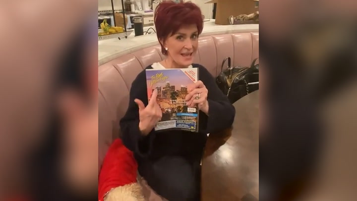 Sharon Osbourne's kitchen inside her $12million mansion is like an American diner