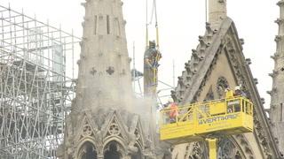 Comienzan obras para cubrir la catedral de Notre Dame