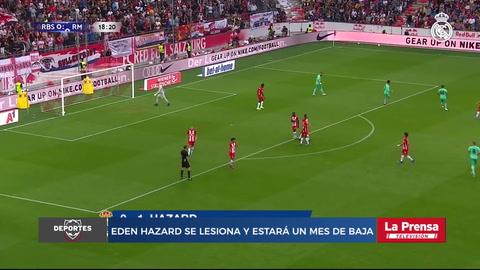 Eden Hazard se lesiona y estará un mes de baja