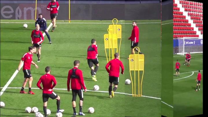 Último entrenamiento del Osasuna antes del partidazo ante el Sevilla