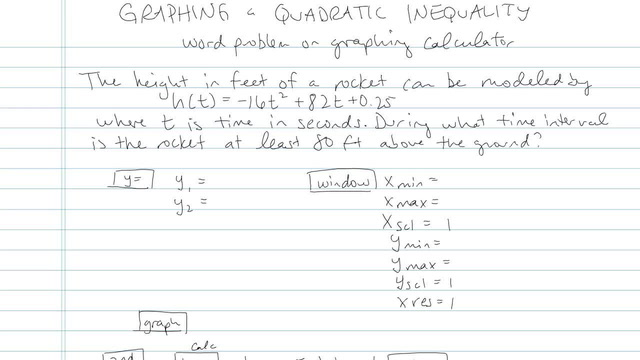 Graphing a Quadratic Inequality - Problem 2
