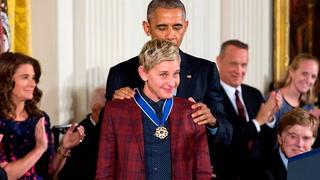 Ellen DeGeneres mottar presidentens frihetsmedalje