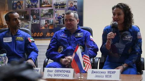 El primer astronauta árabe llega a la ISS