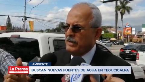 Buscan nuevas fuentes de agua en Tegucigalpa