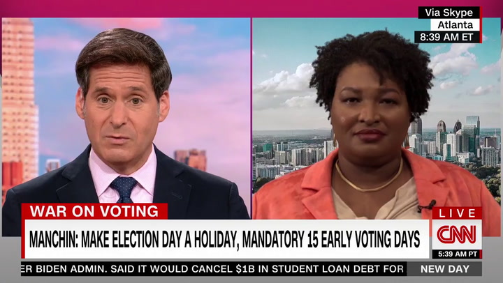 Abrams: I Would 'Absolutely' Support Manchin Voting Rights Compromise -- 'First and Important Step to Preserving Our Democracy'