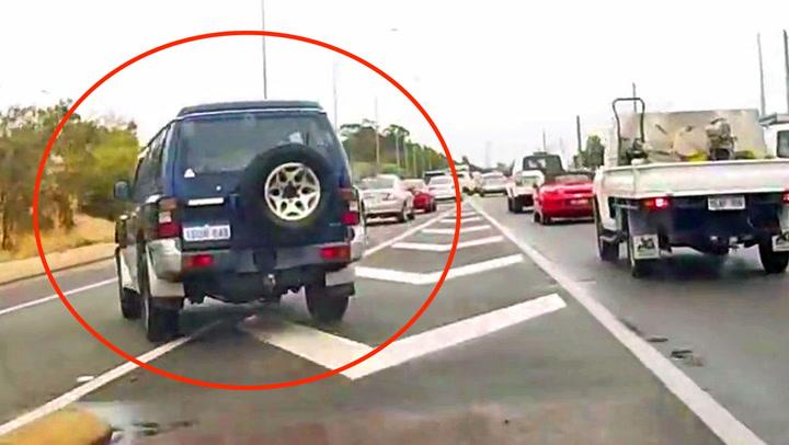 Frekk bilist prøver å stikke av etter påkjørsel