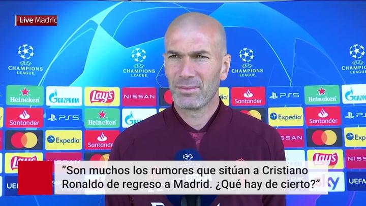 """Zidane sobre el regreso de Cristiano: """"Puede darse"""""""