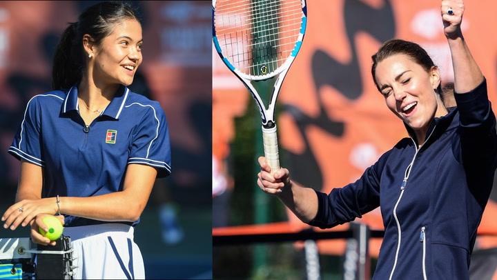¡La pareja invencible! La duquesa de Cambridge se atreve a jugar con la nueva estrella del tenis, Emma Raducanu