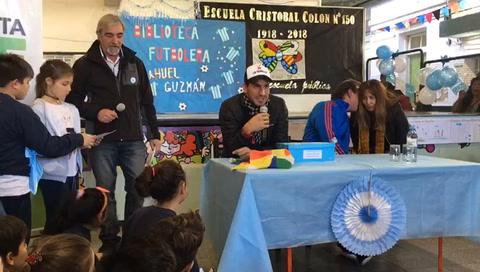 El Patón Guzmán evitó polemizar en un reconocimiento en Rosario