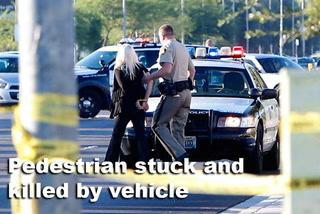 Pedestrian stuck by vehicle