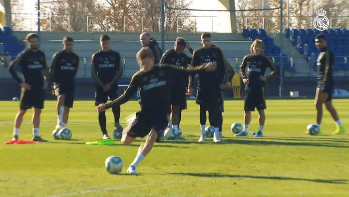 Real Madrid's last training session before welcoming Espanyol