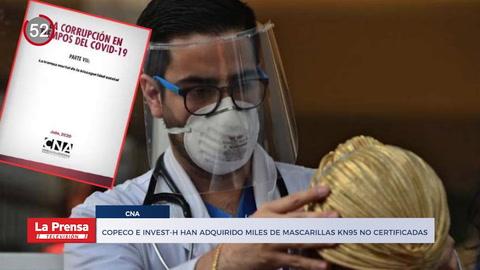 Noticiero: Copeco e Invest-H han adquirido miles de mascarillas KN95 no certificadas