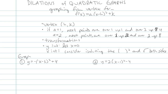 Dilations of Quadratic Graphs - Problem 2