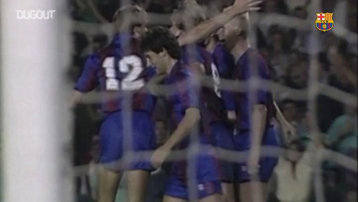 Todos los goles de Ronald Koeman contra el Madrid