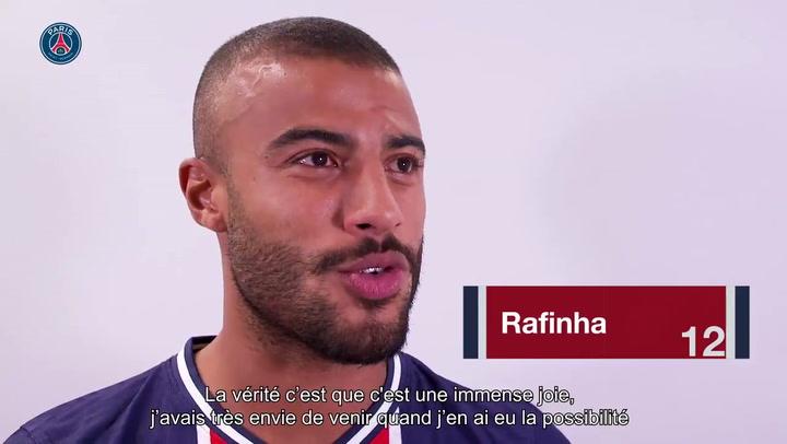 El primer día de Rafinha en el PSG