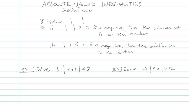 Absolute Value Inequalities - Problem 7
