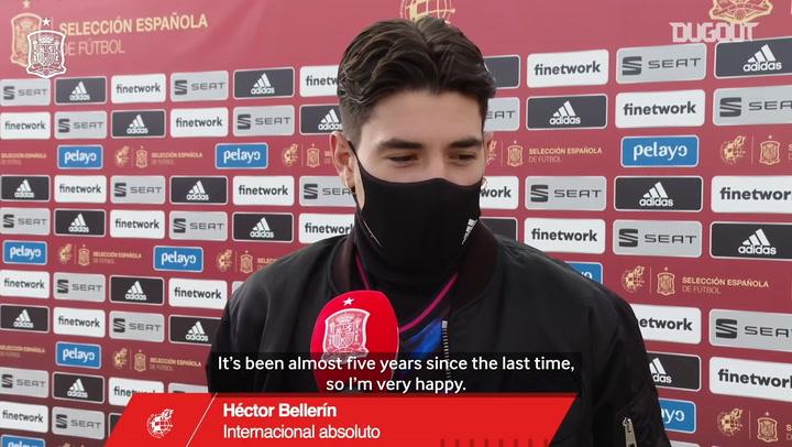 Héctor Bellerín: 'I'm very happy to be back'
