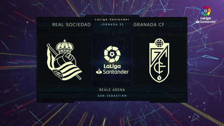 LaLiga (J35): Resumen y goles del Real Sociedad 2-3 Granada