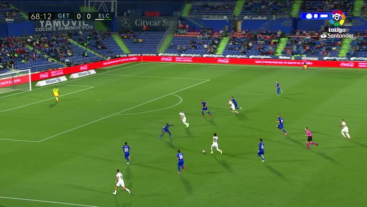 Gol de Lucas Pérez (0-1) en el Getafe 0-1 Elche