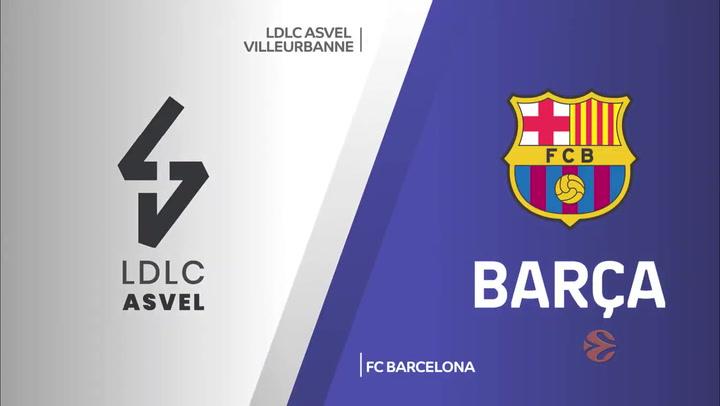 Euroliga: LDLC ASVEL Villeurbanne - FC Barcelona