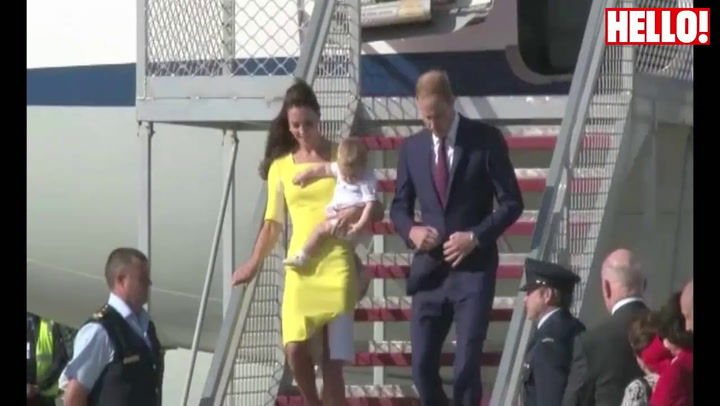 Prince William, Kate and baby George arrive in Australia