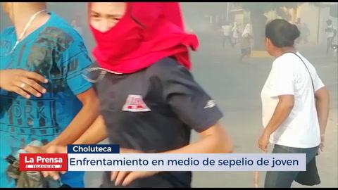 Enfrentamiento en medio de sepelio de joven en Choluteca