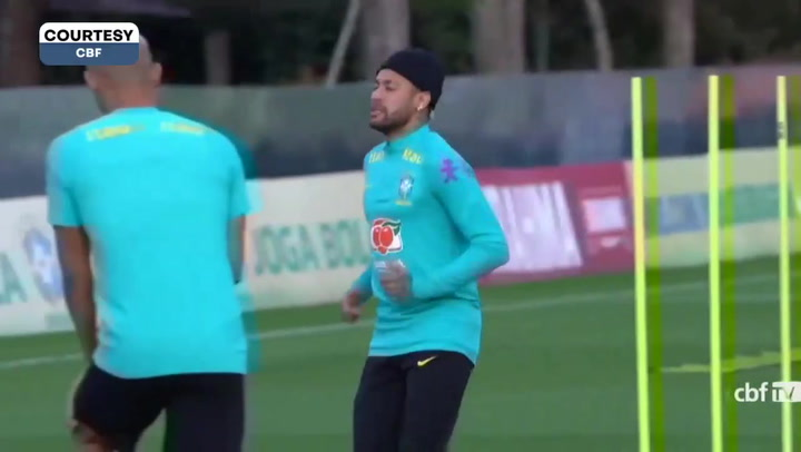 Brazil training before the Cup final