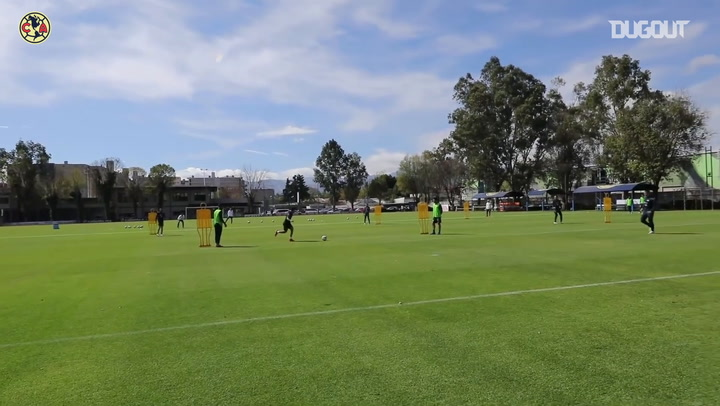 Club América's finishing practice ahead of their game vs Monterrey