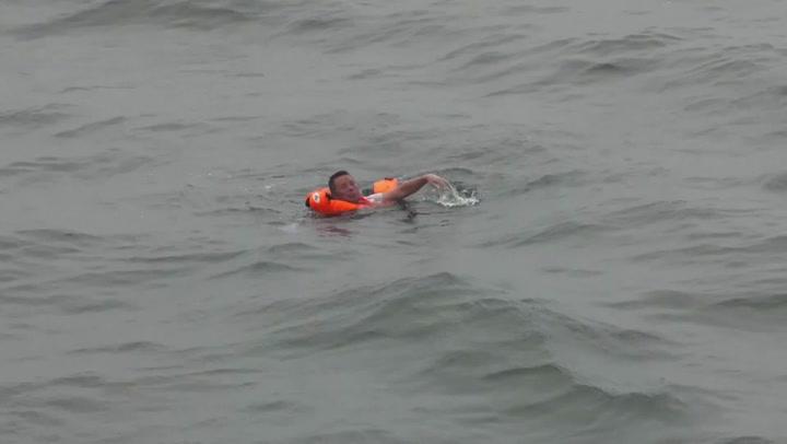 Shipwreck survivor rescued after spending 49 hours at sea
