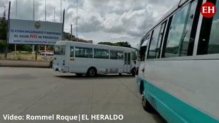 Transportistas realizan paro de labores en la capital de Honduras