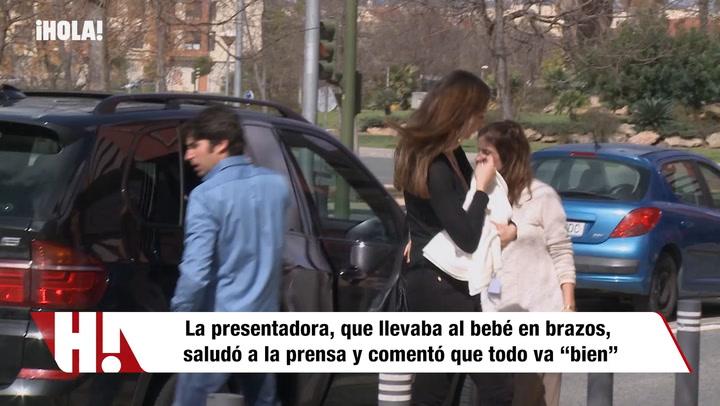 Eva González y Cayetano Rivera llevan a su hijo al pediatra