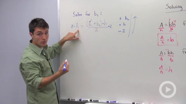 Solving Formulas - Problem 1