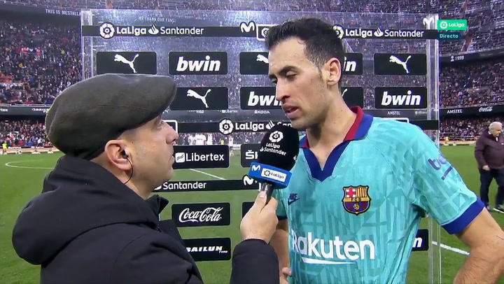 Busquets da explicaciones tra la derrota en Mestalla