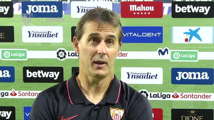 Lopetegui analiza el 0-3 del Sevilla en Leganés