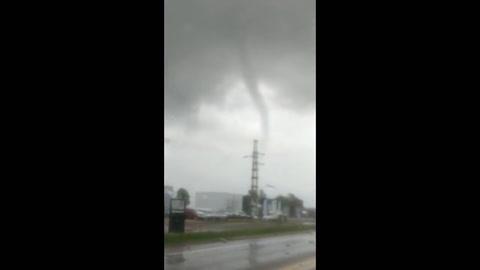 Terror en Bahía Blanca por un mini tornado que fue una falsa alarma
