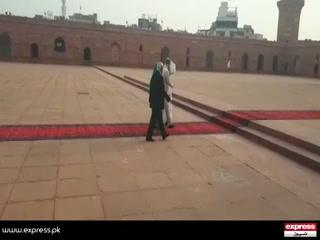 شاہی جوڑے کا بادشاہی مسجد کا بھی دورہ