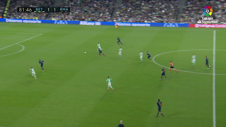Gol de Tello (2-1) en el Betis 2-1 Real Madrid