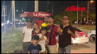 Hondureños, originarios de Puerto Cortés, llegaron desde Atlanta para apoyar al equipo norteamericano.