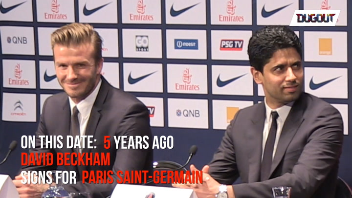 OTD: 5 Years ago Beckham signed for Paris