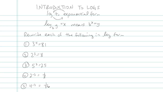 Introduction to Logarithms  - Problem 4