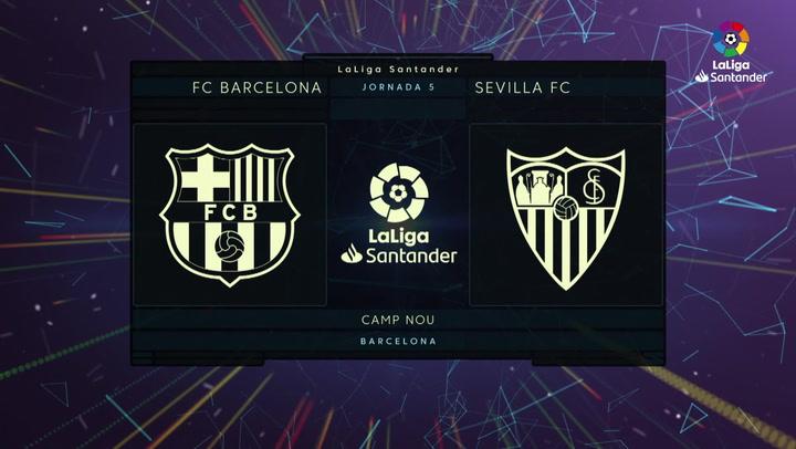 LaLiga (J5): Resumen y goles del Barcelona 1-1 Sevilla