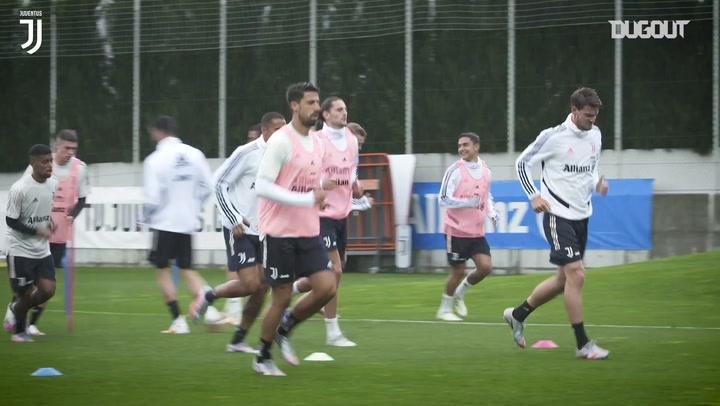 Juventus begin training ahead of Coppa Italia clash