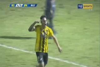 Ángel Tejeda anota el 5 - 0 de Real España ante UPN