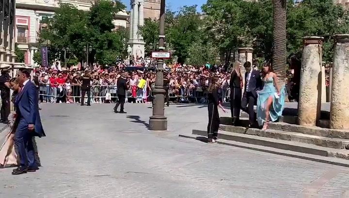 Keylor Navas y Marco Asensio, con sus parejas en la boda de Sergio Ramos