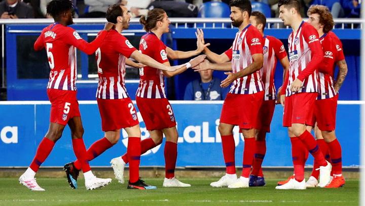 LaLiga: Alavés - Atlético Madrid. Gol de Diego Costa en el minuto 11 (0-2)