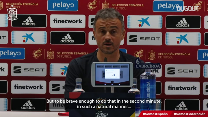 Luis Enrique, surprised by Ansu Fati's braveness