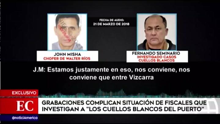 """Grabaciones complican a fiscales que investigan a """"Los cuellos blancos del puerto"""""""