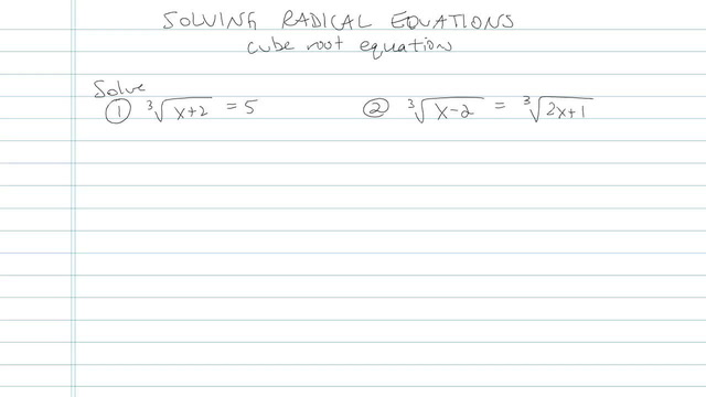 Solving an Equation with Radicals - Problem 9