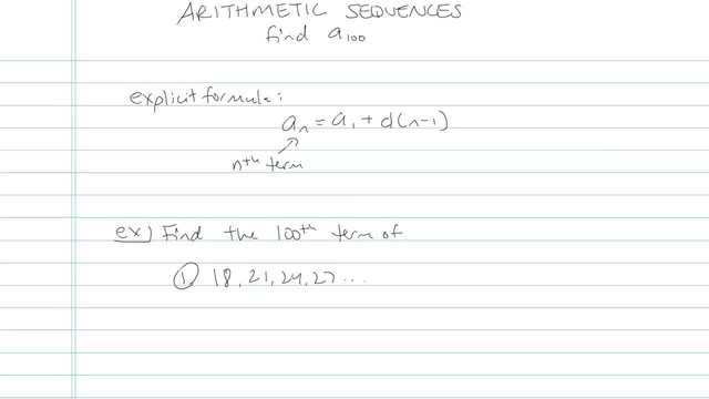 Arithmetic Sequences - Problem 17