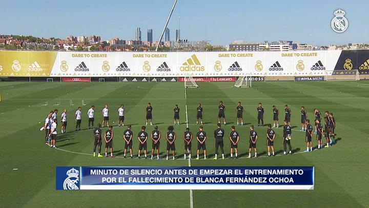 El Real Madrid guardó un minuto de silencio durante el entrenamiento por Blanca Fernández Ochoa